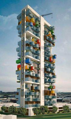 Favela Container Skyscraper, Bombay