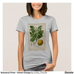Botanical Print - Sweet Orange T-Shirt