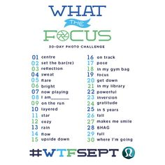 What the Focus - list