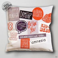 5 second of summer album cover Pillow Case, Chusion Cover ( 1 or 2 Side Print With Size 16, 18, 20, 26, 30, 36 inch )