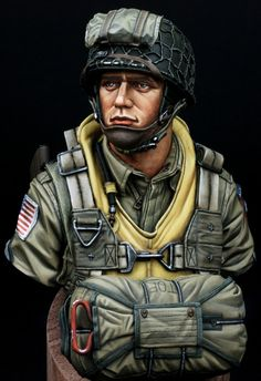 US Paratroopers 82nd Airborne Normandy 1944 (young miniatures. 1/10) by yoon · Putty&Paint