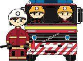 UK bomberos y Director de camión de bomberos