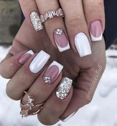 french nails with a twist Braid Tutorials Shellac Nails, Glitter Nails, Manicure, Acrylic Nails, Stiletto Nails, French Nail Designs, Nail Art Designs, Perfect Nails, Gorgeous Nails
