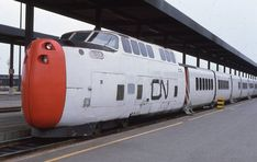 Canadian National Turbo Train at Ottawa, ON. Time Travel Machine, Diesel, Train Stations, Electric Train, Train Tracks, Model Trains, Ottawa, Heavy Metal, Period