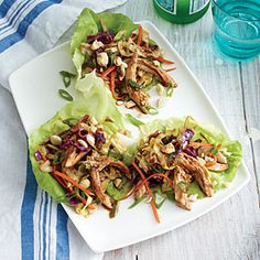 Superfast Asian Recipes | Mu Shu Chicken Lettuce Wraps | CookingLight.com