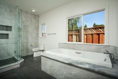 Sunnyvale, CA master bathroom by Valley Home Builders.
