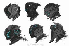 Scifi Full Helmet Designs 001 by benedickbana.deviantart.com on @DeviantArt