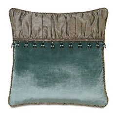 Sewing Pillows Dunaway Umber Ruched Insert from Eastern Accents - Glam Pillows, Accent Pillows, Throw Pillows, Cushion Covers, Pillow Covers, Pillow Set, Grey Comforter, Eastern Accents, Luxury Bedding Collections