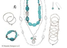 Escape the ordinary by wearing this fresh pairing of serene Turquoise and polished Pearls.  Love Silpada!