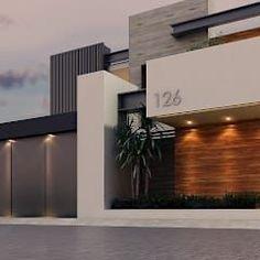 Fachada: Casas de estilo moderno por Besana Studio #casasmodernas