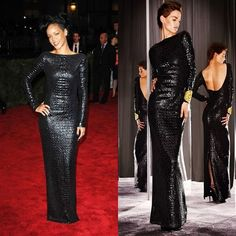 #throwbackRiRi #MetGala2012 Rihanna in @tomford's Fall 2012 Ready-to-Wear collection.