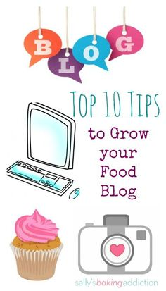 Here are my top 10 (successful!) tips to grow your food blog! From