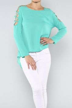 Sliced Sleeves Top salediem.com work or play this summer $34 Shipped