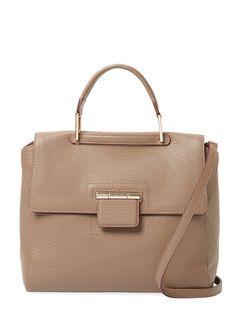 Artesia Medium Leather Top Handle Satchel from Designer Handbag Shop: Perfect Carryalls on Gilt