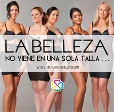 Aparte, si todas fuéramos la misma talla, ¡qué aburrido sería!  ¡comparte! Visita: http://www.mariamontemayor.com/#!el-arte-de-amar-tu-cuerpo/ctzi