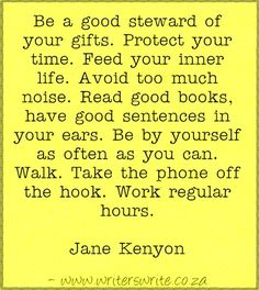 Quotable – Jane Kenyon – Writers Write