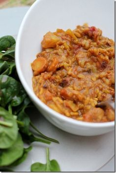 Creamy Curried Chickpea Soup by Daily Garnish