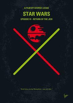 My STAR WARS VI Return of the Jedi minimal poster by Chungkong.deviantart.com on @deviantART