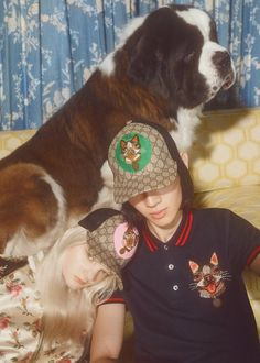 Orso and Bosco, Boston terriers of Gucci's Creative Director Alessandro Michele appear on the Chinese New Year collection. - Gucci Stories