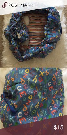 Shopping cart cover Blue ABC shopping cart cover Accessories