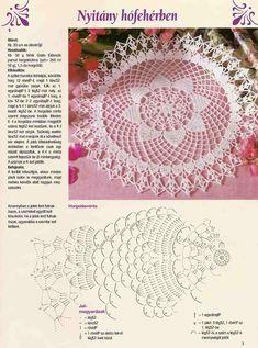 Photo from album Free Crochet Doily Patterns, Crochet Doily Diagram, Crochet Lace Edging, Crochet Motifs, Unique Crochet, Thread Crochet, Beautiful Crochet, Vintage Crochet, Crochet Doilies