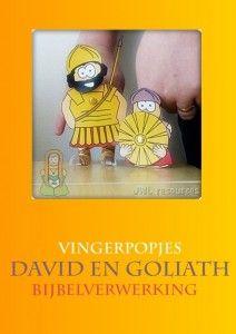 David En Goliath Vingerpopjes Knutselen Bijbel Verwerking Free Printable Kleuterideenl