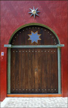Door with blue star ....   Mexico