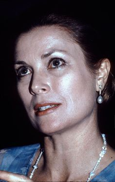 Princess Grace attends an event, circa 1978 in London, England. Princess Grace Kelly, Prince Rainier, Monaco Royal Family, Bright Skin, Two Daughters, Prince Albert, Pearl Studs, Amazing Grace, Beautiful Actresses
