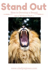 How to Develop Brand or Logo as a Writer - Part 1 - Cindy M. Jones
