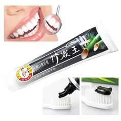 100g Natural Bamboo Charcoal toothpaste Black Whitening Tooth Paste Cream high quality 3JU27