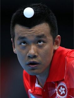 PTang Peng of Hong Kong keeps his eye on the ball    Tang Peng of Hong Kong serves in his men's singles Table Tennis second round match against Noshad Alamiyan of Iran on Day 2 of the London 2012 Olympic Games at ExCeL.  /Photo/sport/General/01/30/87/760tang-peng-hong-kong-keeps-his-eye-the-ball1308776    Related tags  Photos - 2012 Olympics | London 2012