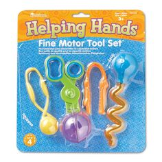 Learning Resources Helping Hands Fine Motor Tool Set, Multicolor