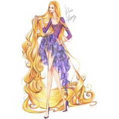 Fashion Rapunzel by frozen-winter-prince ❤ liked on Polyvore featuring disney