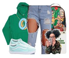"""""""She ~ Tyler The Creator"""" by retrovintagepizza ❤ liked on Polyvore featuring Nickelodeon, Sterling Essentials and Vans"""