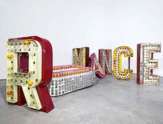 I love old sign remnants. one day I will make this happen in my house.