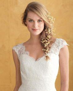 Luce un semirecogido ladeado el día de tu boda. #Blog #Innovias