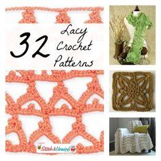 32 Beautiful Light and Lacy Crochet Patterns