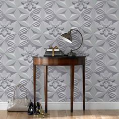 $85 - Wall Flower Gray Wallpaper by Graham and Brown