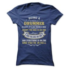 BEING A DRUMMER AWESOME T-Shirts, Hoodies. Check Price Now ==►…