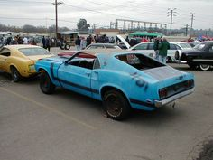 1969 Mustang Fastback in Grabber Blue with 70 Boss 302 stripes