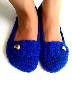 Crochet Womens Slippers Ballet Flats