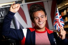 Tom Daley signs copies of his book 'Tom Daley 'My Story' at Waterstones on August 16, 2012 in London, England.