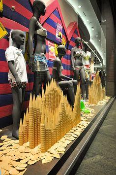 Tezenis window displays Summer 2012, Budapest visual merchandising
