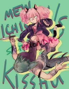 Ichigo and Quiche(that idiot deserves this)