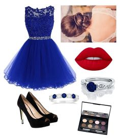 """Untitled #516"" by dw-fashion-unlimited ❤ liked on Polyvore featuring GUESS, Lime Crime, Allurez and Laura Geller"