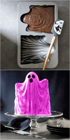 Ghost Cake Mold from Williams-Sonoma.  What perfection: a PINK ghost! Halloween 'Pink-O-Ween' Theme Party Decorations & Ideas