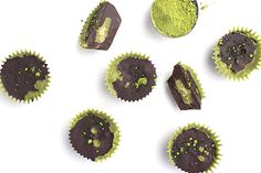 Homemade candy you can feel good about eating! These Green Tea Protein Chocolate Cups contain protein, healthy fats, and antioxidants.