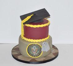 "Graduation Cake / Army Cake By ""Desserts By Rondi"" DessertsByRondi.com"