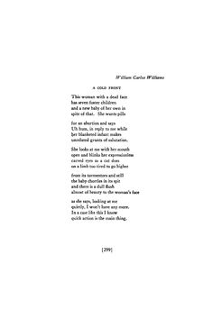 A Cold Front - William Carlos Williams