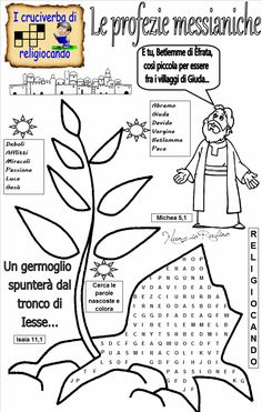 Le profezie messianiche Crafts For Kids, Bullet Journal, Words, Cactus, Catholic, Crafts For Children, Kids Arts And Crafts, Kid Crafts, Horse